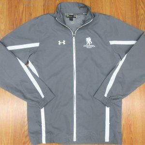 UNDER ARMOUR WOUNDED WARRIOR PROJECT LOOSE FIT WINDBREAKER JACKET GRAY SMALL, S